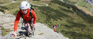 Mit Kindern den Klettersteig bei Galtür auf 2.165 m hoch klettern. Oben wartet ein unglaubliches Panorama auf Euch. foto (c) mike gabl