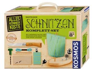 Kinder lernen schnitzen mit der Alles-Könner-Kiste vom Kosmos Verlag. Foto (c) Kosmos Verlag
