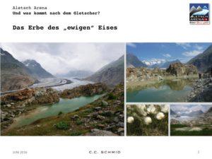 Beim Wandern mit den Kindern am Alteschgletscher ist auch für Laien erkennbar, wie unwiederbringlich die Gletscher sind. foto (c) aletscharena. ch