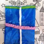 Upcycling: Kinder basteln aus einer IKEA Tüte eine Outdoor Waschtasche