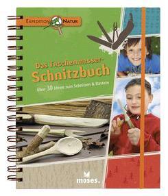 Das Taschenmesser Schnitzbuch ist im moses-Verlag erschienen. Es soll den Kindern das Schnitzen lernen. foto (c) moses-verlag