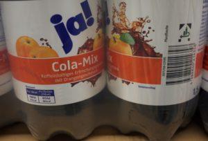 Ja! Cola-Mix ist eine REWE Eigenmarke. Geschmacklich ausbaufähig. foto (c) kinderoutdoor.de