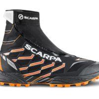 Trail Running im Winter: Mit dem Sacrap Neutron G und OutDry bleibt Ihr auch mit dem Kinderwagen beim Joggen immer trocken.   foto (c) Scarpa