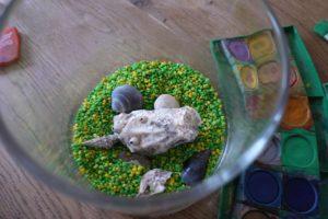 Wir Basteln mit Muscheln ein Aquarium und sind fast fertig. foto (c) kinderoutdoor.de