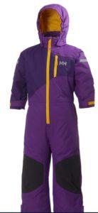 Helly Hansen Skioverall für Kinder: Der  K Powder Skisuit ist wasser- und winddicht. Damit macht das Skifahren Spaß. foto (c) helly hansen