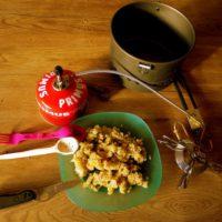 Outdoor Rezepte fürs Lagerfeuer oder den Gaskocher: Kürbis Risotto.  foto (c) kinderoutdoor.de