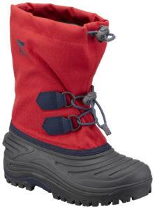 Sorel Kinderschuh Super Tropper: Bis –40 °Celsius hält dieser robuste Shell Stiefel die Füße der Outdoorkids warm. Da sieht der Frost rot! foto (c) sorelfootwear