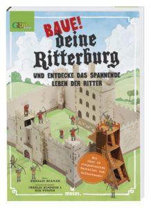 Ein Bastelbuch für das weder Schere noch Kleber nötig sind: Baue Deine Ritterburg. Kurzweiliger kann kaum ein Buch sein. foto (c) moses-verlag