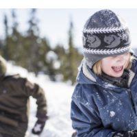 Fjällräven Kinder Outdoorjacke für Knilche die draußen alles geben: Kids Greenland Winter Jacket.  foto (c) fjällräven