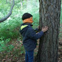 Schnitzejagd Ideen: Den richtigen Baum wiederfinden. Da haben auch Erwachsene ihre Probleme.  foto (c) kinderoutdoor.de
