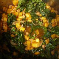 Outdoor Rezepte machen sogar aus Kindern Gemüsefans. So wie hier, wenn Kürbis auf Kichererbsen trifft.   foto (c) kinderoutdoor.de