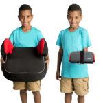 Kindersitz Grab-and-Go Booster: Gefaltet so klein wie ein Federmäppchen