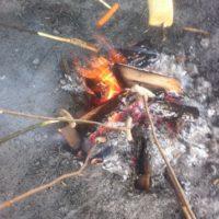 ein Lagerfeuer mit Kindern ist ideal um zu grillen, mit den Kleinen zu singen und den Kindern was vorzulesen.  foto (c) kinderoutdoor.de