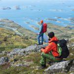 Norrøna und die grüne falketind Linie