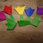 Mit Kindern basteln: Wir falten kinderleichte Frühlingsblumen