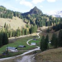 Wandern mit KIndern zur Köngisbachalm. Ein breiter Wanderweg bringt Euch hierher.   foto (c) kinderoutdoor.de