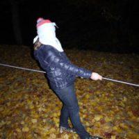 Unsere letzte Spielstation bei der Schnitzeljagd in der Nacht: Ein zünftiger Geisterpfad  foto (c) kinderoutdoor.de