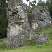 Dieser Felsen sieht fast wie ein Löwe aus, oder ist es die Sphinx? Langeweile kommt im Felsenmeer beim Wandern mit Kindern kaum auf.  foto (c) kinderoutdoor.de