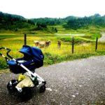 Wanderung mit Kinderwagen in Warth-Schröcken: Britax Go Next im Text bei der Seentour