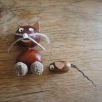 Hübsch sind Tom und Jerry aus Kastanien. Bastelt sie doch nach.   foto (c) kinderoutdoor.de