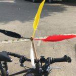 Eine Fahrradmühle aus Kastanien basteln