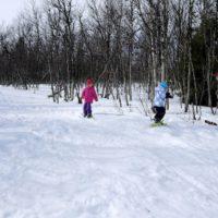 Schneeschuhwanderung mit Kindern ist eine intensive Art den Winter gemeinsam als Familie zu entdecken.   foto (c) kinderoutdoor.de