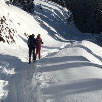 Schneeschuhwandern mit Kindern in Tirol: Ein lohnendes Ziel im Winter ist der Gasthof Adlerhorst oberhalb vom Haldensee.   foto (c) kinderoutdoor.de