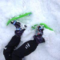 Richtige Technik beim Schneeschuhgehen: Und Ihr bleibt immer oben auf!  foto (c) kinderoutdoor.de