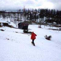 Die richtige Technik bei Schneeschuhen und Ihr kommt flott vorwärts.  foto (c) kinderoutdoor.de