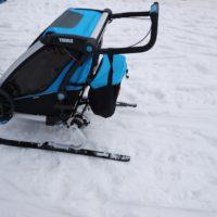 Thule Chariot Cross Country Skiing Kit ist in kurzer Zeit montiert.   foto (c) kinderoutdoor.de
