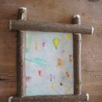 Kinder werken mit dem Taschenmesser: Rahmen basteln