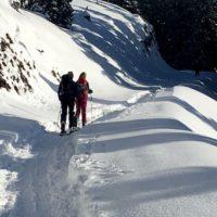 Die Skitour zur Kolbensattelhütte bietet Abwechslung und eine Abfahrt über die Piste.   foto (c) kindeorutdoor.de