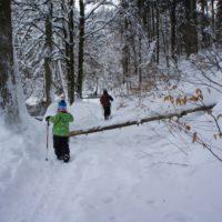Winterwanderung für die Familie: Im Schnee findet sich unterwegs manches Abenteuer.   foto (c) kinderoutdoor.de