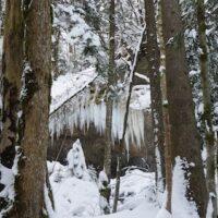Auf dem Weg zur Bayerischen Wildalm, bekommt Ihr auch vereiste Wasserfälle zu sehen.   foto (c) kinderoutdoor.de