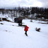 Berghütten für Familien im Winter sind eine ideale Basis für Schneeschuhtouren oder Skitouren mit der Familie.   foto (c) kinderoutdoor.de