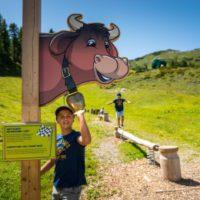 Beim Familienurlaub am Zauchensee ist der Kuhparkuhr ein Muss für die Kinder. Kuhfladenhüpfen und andere Sportarten erwarten Euch.  foto ©Liftgesellschaft Zauchensee/C.Schartner