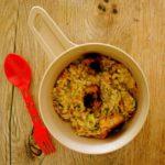Outdoor Rezepte für Kinder: Karotten-Risotto mit Fleischbällchen vom Lagerfeuer