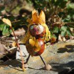 Basteln mit Kastanien: Eine Prinzessin