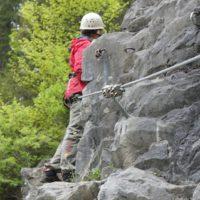"""Durchgehend gesichert ist der Klettersteig """"Zahme Gams"""" bei Weißbach /Lofer.  foto (c) kinderoutdoor.de"""