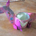 Kinder Einhorn Laterne basteln: Ein fliegender Traum in rosa!