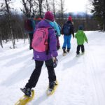 Kinder wandern mit Schneeschuhen: Unterwegs mit Rangern