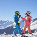 Kinder Outdoor Skifahren im Paznaun