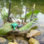 Outdoor basteln für Kinder: Schwimmende Insel