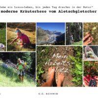 Kinder und die Kräuterhex vom Aletschgletscher foto (c) Aletsch Arena