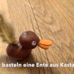 Basteln mit Kastanien: Eine Ente