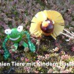 Kinder Outdoor basteln Kastanientiere