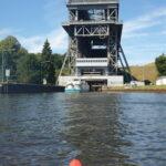 Mit Kindern paddeln: Das Schiffshebewerk von Niederfinow