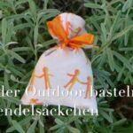 Kinder Outdoor basteln: Lavendelsäckchen selbst nähen
