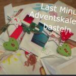 Kinder Outdoor Adventskalender last minute basteln