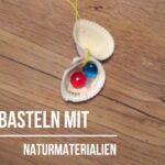 Kinder basteln mit Naturmaterialien eine 🐚Muschelkette🐚